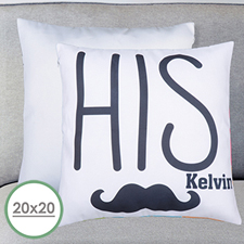 His Personalized Large Pillow Cushion Cover 20