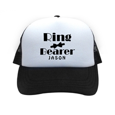 Ring Bearer Personalized Trucker Hat, Black