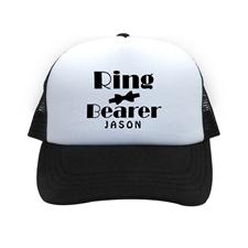 Ring Bearer Personalized Trucker Hat, Black