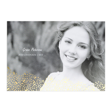 Foil Gold Refined Graduation Personalized Photo Graduation Announcement Cards
