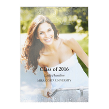 Foil Silver Perfect Graduate Personalized Photo Graduation Announcement Cards