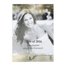 Foil Gold Perfect Graduate Personalized Photo Graduation Announcement Cards