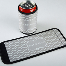 Color Chevron Personalized Can And Bottle Wrap