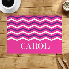 Pink White Purple Chevron Personalized Placemat