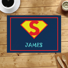 Super Hero Boy Personalized Placemat