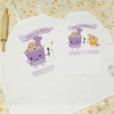 Baking Our Muffins Personalized Adult Kids Apron Set