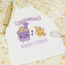 Baking Our Muffins Personalized Kids Apron