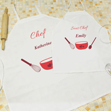 Seasoned With Love Personalized Adult Kids Apron Set