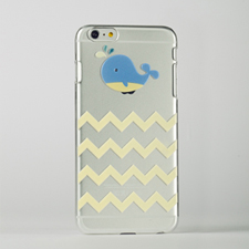 Chevron Whale Custom Raised 3D iPhone 6 Plus Case