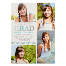 Badge Of Honor Personalized Graduation Invitation Cards