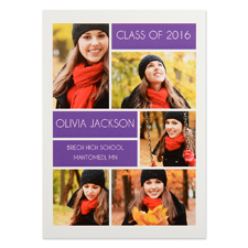 Grad Collage Personalized Graduation Invitation Cards