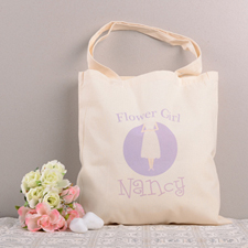 Flower Girl Personalized Cotton Wedding Tote Bag