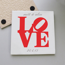 Love Personalized Tile Coaster