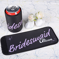 Lavender Bridesmaid Personalized Can And Bottle Wrap