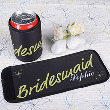 Lime Bridesmaid Personalized Can And Bottle Wrap