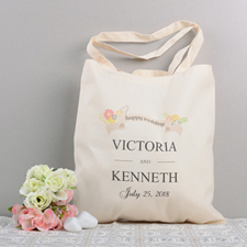 Wedding Banner Personalized Cotton Tote Bag