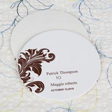 Vintage Wedding Cardboard Round Coaster