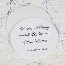 Classic Wedding Cardboard Round Coaster