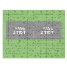 Two Collage Photo Puzzle, Lime Green