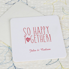 So Happy Together Cardboard Square Coaster Custom Print