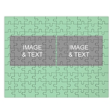 Two Collage Photo Puzzle, Moss Green