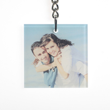 Personalized Acrylic Keychain Square 1.875