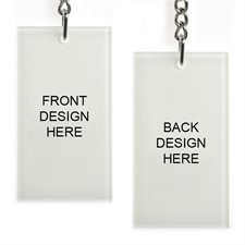 Custom Imprint Acrylic Keychain Rectangular 1.5