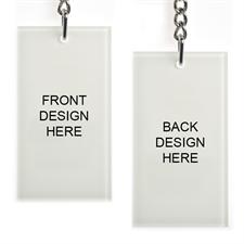 Custom Imprint Acrylic Keychain Rectangular 1.5