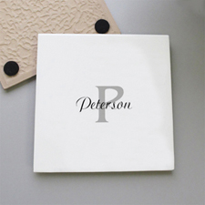 Family Name Personalized Tile Coaster