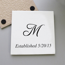 Initial And Est. Year Personalized Tile Coaster