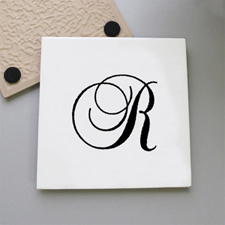 One Initial Personalized Tile Coaster