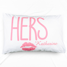 His & Her Personalized Name Pillowcase