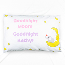 Goodnight Personalized Name Pillowcase