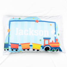 Baby Abroad Train Personalized Name Pillowcase