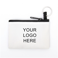 Personalized Business Promotional Coin Purse W/Keyring 3.5 X 5 Inch