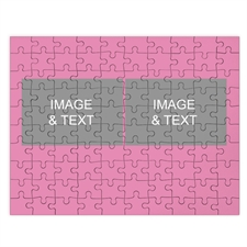 Two Collage Photo Puzzle, Baby Pink