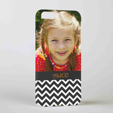 Black Chevron Personalized Photo iPhone 6 Case