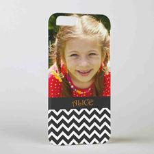 Black Chevron Personalized Photo iPhone 6 Case