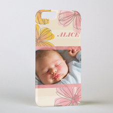 Pink Floral Personalized Photo iPhone 6 Case