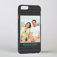 Black Personalized Photo iPhone 6 Case