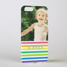Rainbow Stripe Personalized Photo iPhone 6 Case