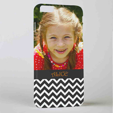 Black Chevron Personalized Photo iPhone 6+ Mobile Case