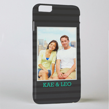 Black Stripe Personalized Photo iPhone 6 + Case