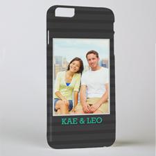 Black Stripe Personalized Photo iPhone 6 + Case