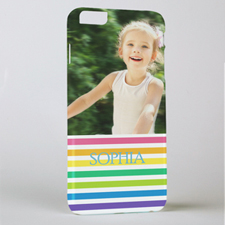 Rainbow Stripe Personalized Photo iPhone 6+ Phone Case
