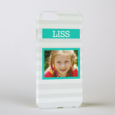 Grey Stripe Photo Phone Case, iPhone 6