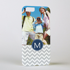 Chevron Initial Navy Personalized iPhone 6 Case