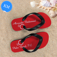 6d2510992a9f Red Wedding Ring Personalized Flip Flops