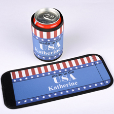 Stars & Stripes Personalized Can And Bottle Wrap