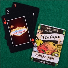 Personalized Black Playing Cards